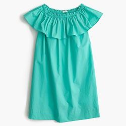 Girls' two-way ruffle dress