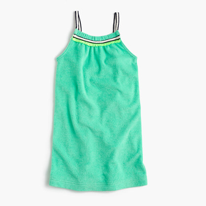 Girls' terry tank dress