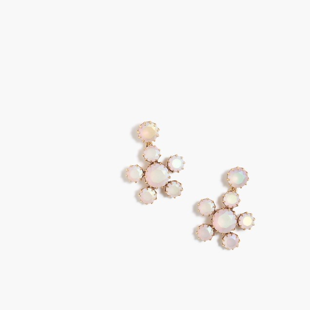 Crystal floral earrings
