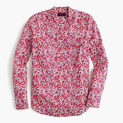 Ruffle popover shirt in Liberty Art Fabrics Wiltshire print