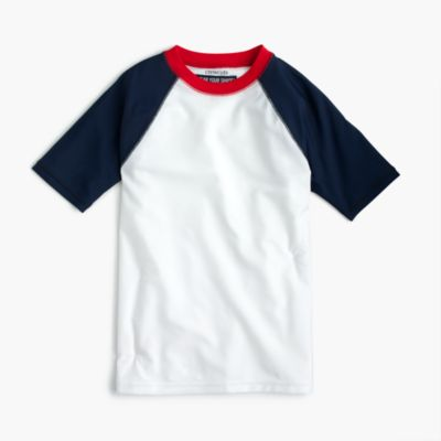 Boys' short-sleeve colorblock rash guard