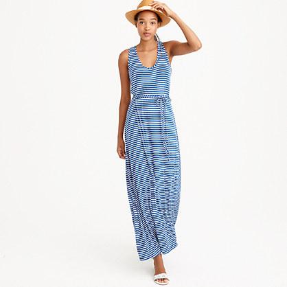 Striped Maxi Dress With Tie Waist Day J Crew