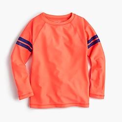 Boys' rash guard in double stripe