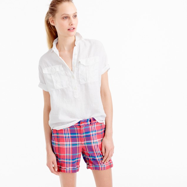 Sunday slim short in vintage plaid