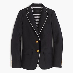 Tall Rhodes blazer in tipped linen