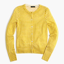 Jackie cardigan sweater in gingham