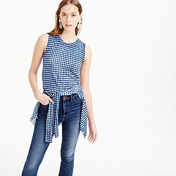 Jackie shell in gingham