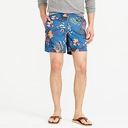 """6.5"""" tab swim short in wild jungle print"""