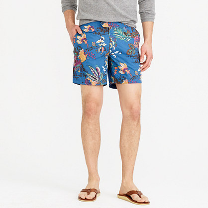 "6.5"" tab swim short in wild jungle print"