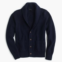 Cotton cardigan sweater in navy