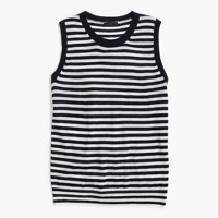 Featherweight cashmere shell in stripe