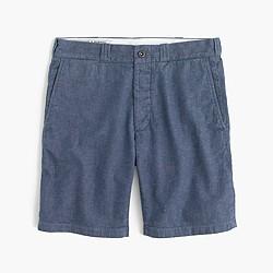 Wallace & Barnes cotton-hemp selvedge denim short