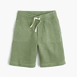 Boys' garment-dyed pull-on short