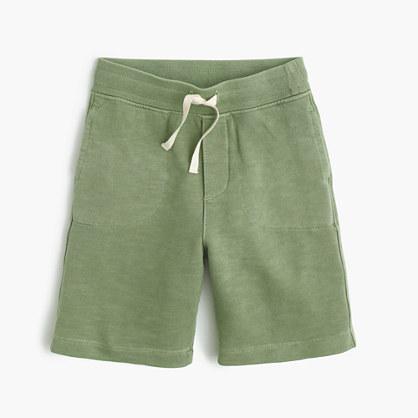 Boys' garment-dyed pull-on short