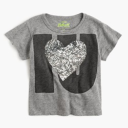 "Girls' ""I heart you"" T-shirt"