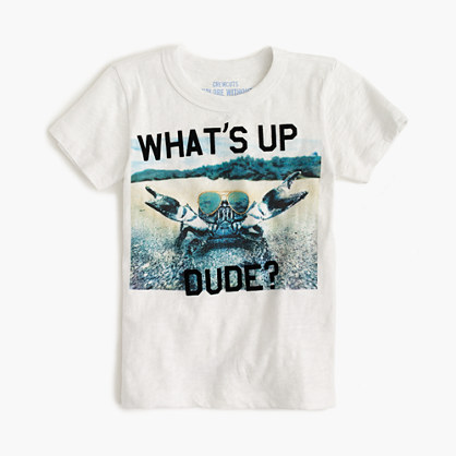 """Boys' """"what's up dude"""" T-shirt"""