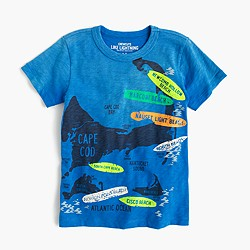 Boys' Nantucket surf map T-shirt