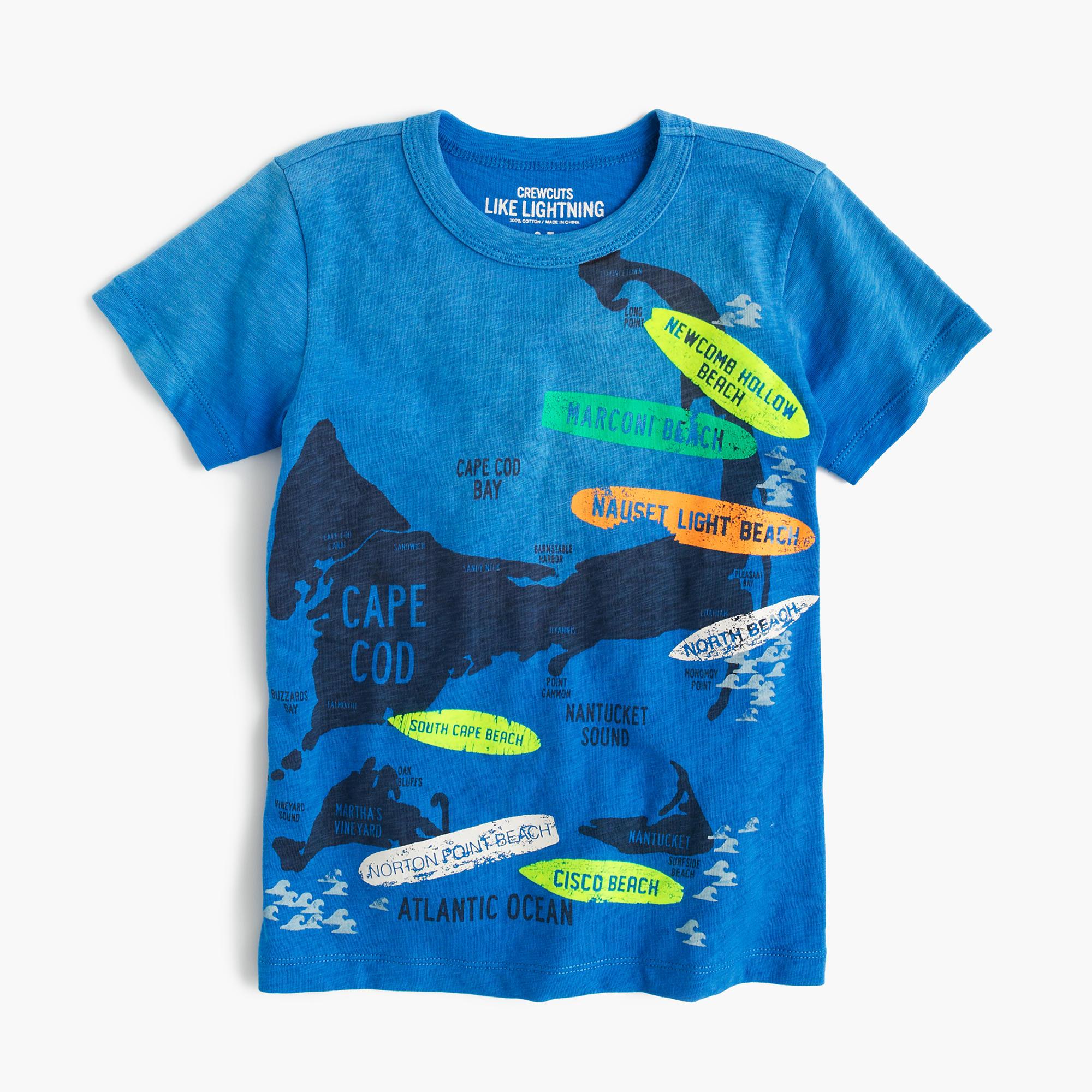 Boys 39 Nantucket Surf Map T Shirt J Crew