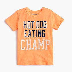 "Boys' glow-in-the-dark ""hot dog eating champ"" T-shirt"