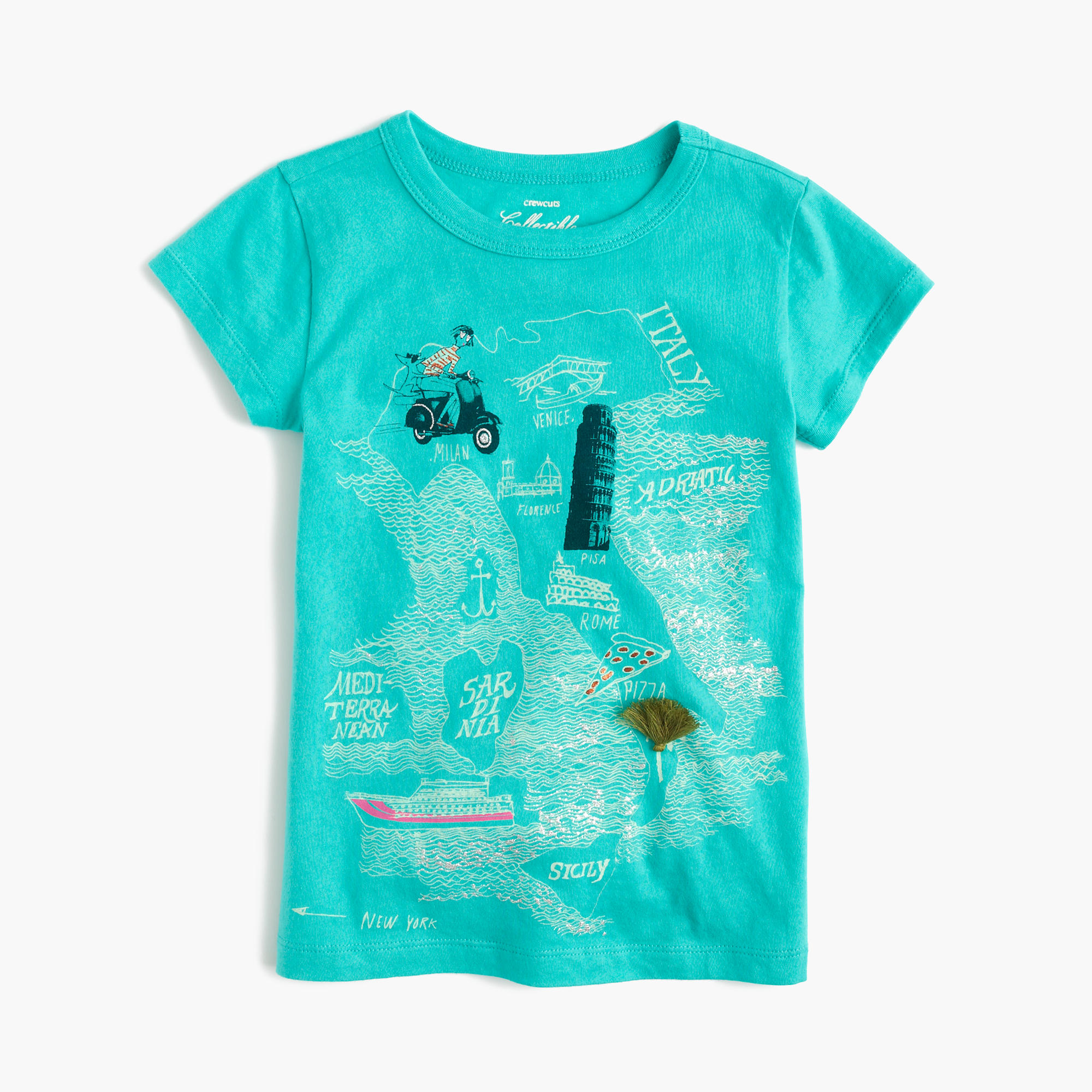 Girls 39 olive in italy t shirt j crew for Shirts made in italy