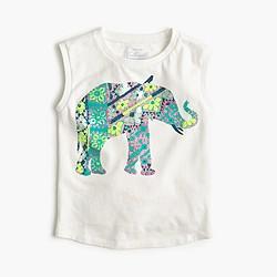 Girls' elephant mosaic muscle T-shirt