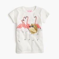 Girls' Max the Monster and flamingos T-shirt