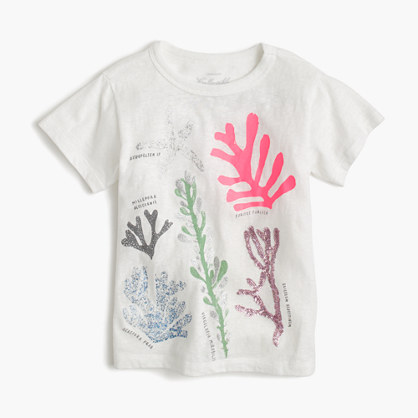 Girls' coral T-shirt