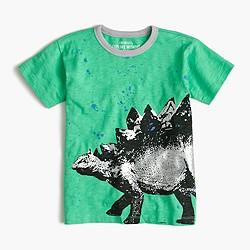 Boys' stegosaurus splatter T-shirt