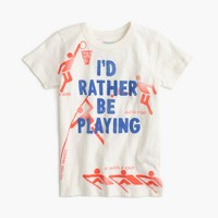 "Boys' ""I'd rather be playing"" T-shirt"
