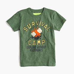 """Boys' glow-in-the-dark """"Survival Camp"""" T-shirt"""