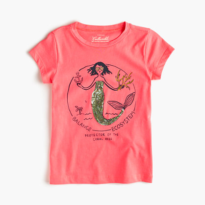 Girls' Olive as a mermaid T-shirt