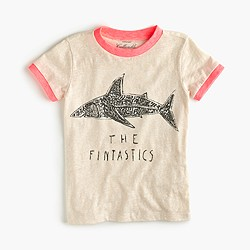 "Girls' ""the fintastics"" sequin shark T-shirt"