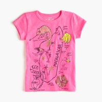 Girls' neon Madagascar T-shirt