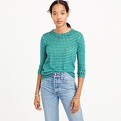 Tippi sweater in blue-emerald gingham