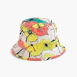 Girls' bucket hat in punchy hibiscus