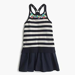 Girls' racerback combo dress