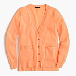 Summerweight cardigan sweater in neon