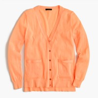 Summerweight cardigan sweater in neon
