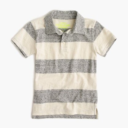 Boys' polo shirt in heathered stripe