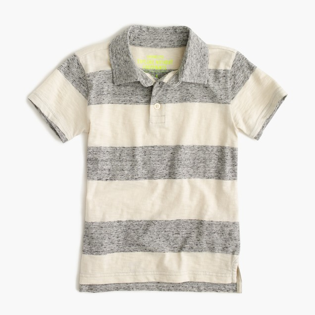 Boys' polo shirt in heathered stripe