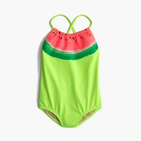 Girls' racerback one-piece swimsuit in watermelon