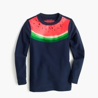 Girls' rash guard in watermelon