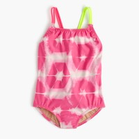 Girls' one-piece swimsuit in tie-dye
