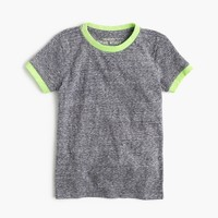 Boys' heather ringer T-shirt in supersoft jersey