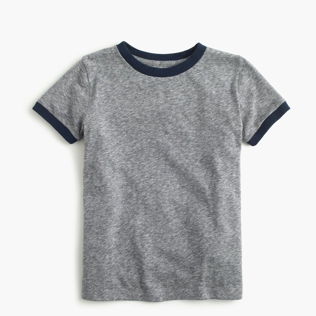 Boys' ringer T-shirt in supersoft jersey