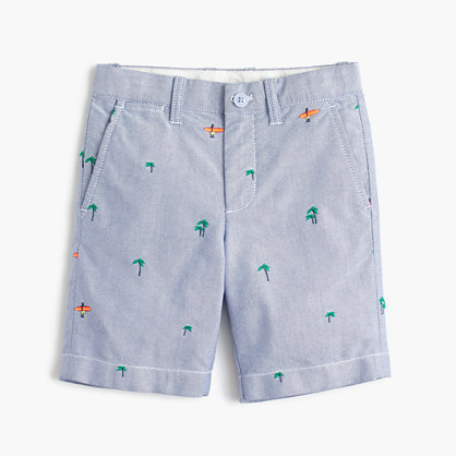 Boys' critter oxford short in surfers