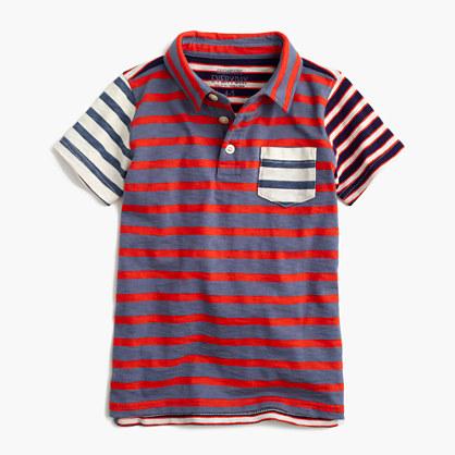 Boys' mash-up polo shirt