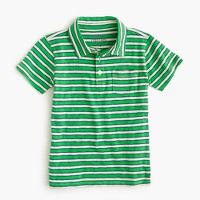 Boys' polo shirt in lined stripe
