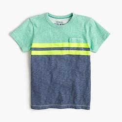 Boys' pocket T-shirt in vintage stripe
