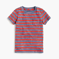 Boys' pocket T-shirt in heathered stripe